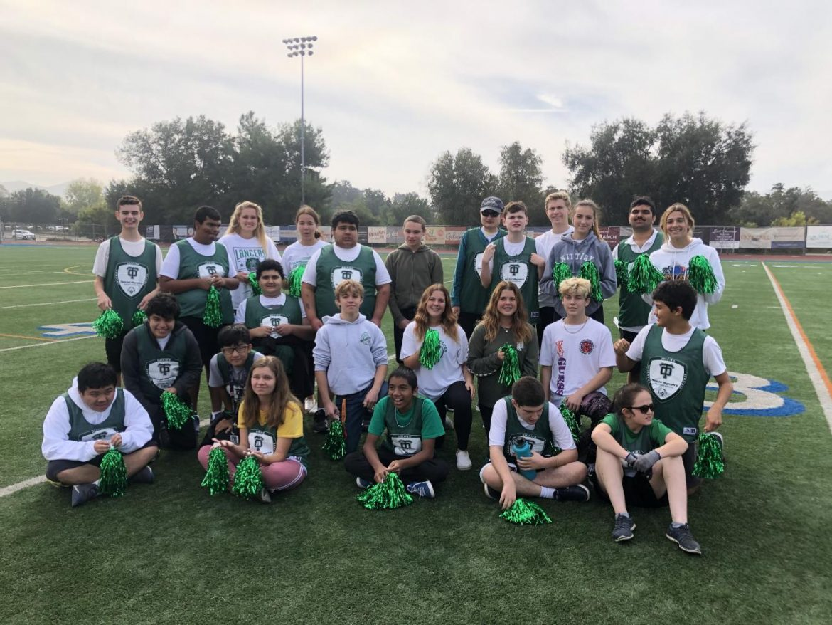 The CVUSD Unified Sports team at their first kickball game At Westlake High School