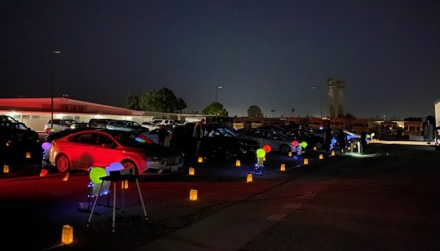 TOHS Dance Held a Drive-in Winter Concert